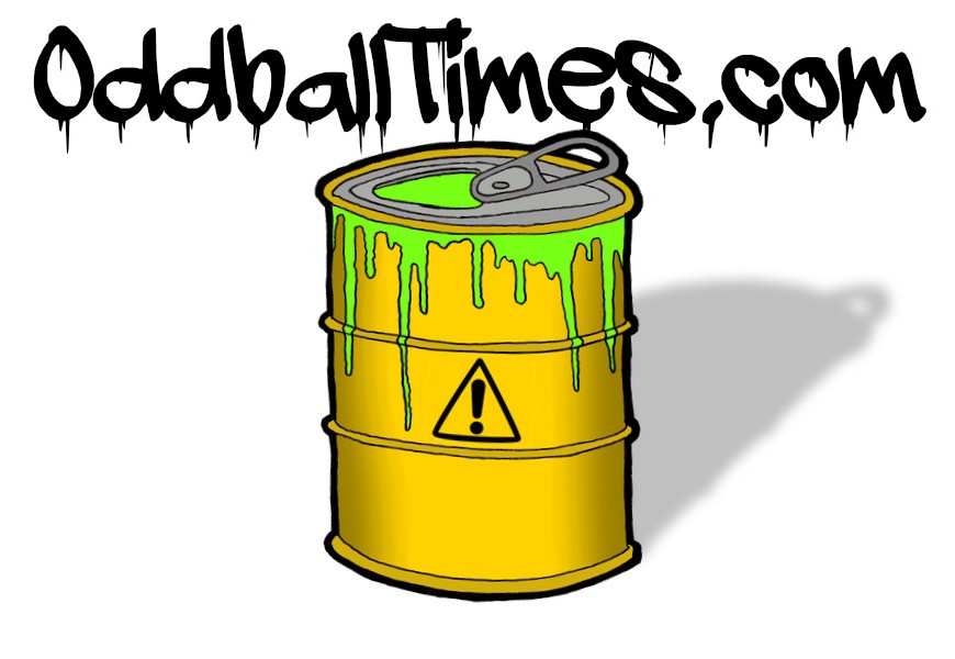 A cartoon image of a toxic waste can with a ring pull by Oddball Times