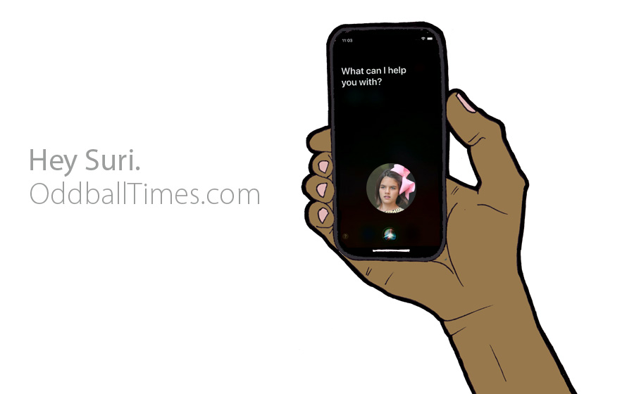 A parody of an iPhone advert with Suri Cruise replacing Siri. By Oddball Times