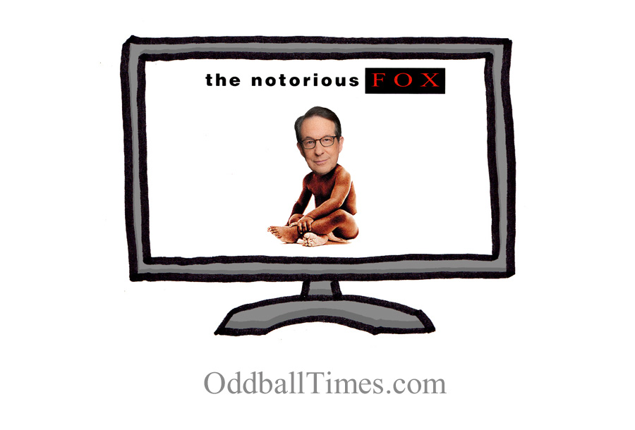 An image of Fox News Chris Wallace in Notorious Big's Ready To Die album cover. By Oddball Times