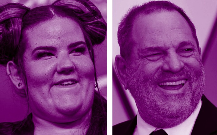 An image of Netta Barzilai alongside Harvey Weinstein showing that they look similar