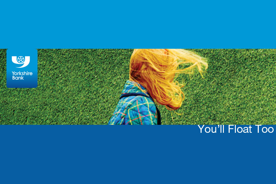 A parody of the IT tagline You'll Float Too as an advert for Yorkshire Bank. By Oddball Times