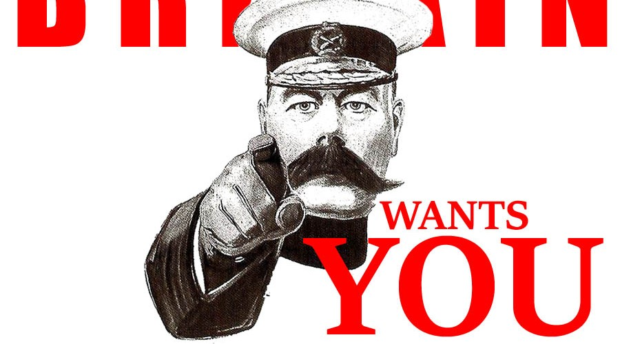 A parody of Lord Kitchener Wants You poster to illustrate poppy fascism. By Oddball Times