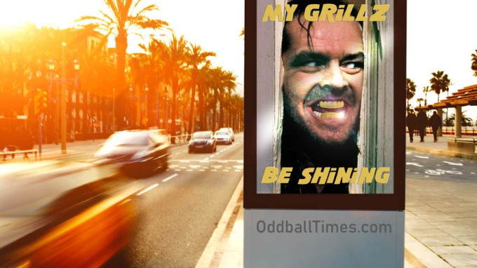 A billboard ad promoting Grillz by Oddball Times