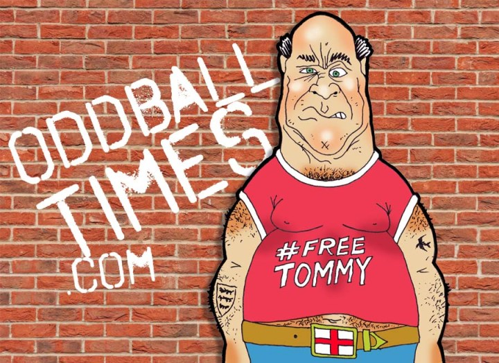 A cartoon of a right-wing, racist, sexist, homophobic gammon. By Oddball Times
