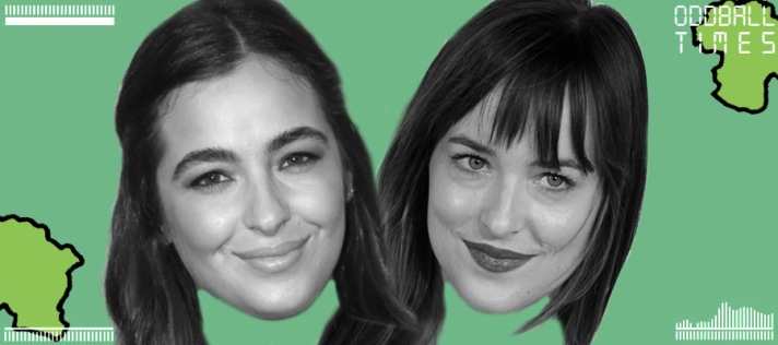 An image of Alanna Masterson and Dakota Johnson under a microscope