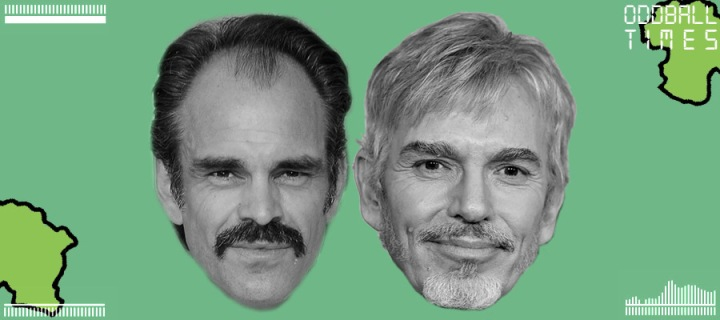 An image of Steven Ogg and Billy Bob Thornton under a microscope