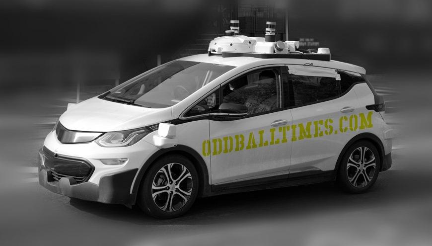 An image of an autonomous vehicle