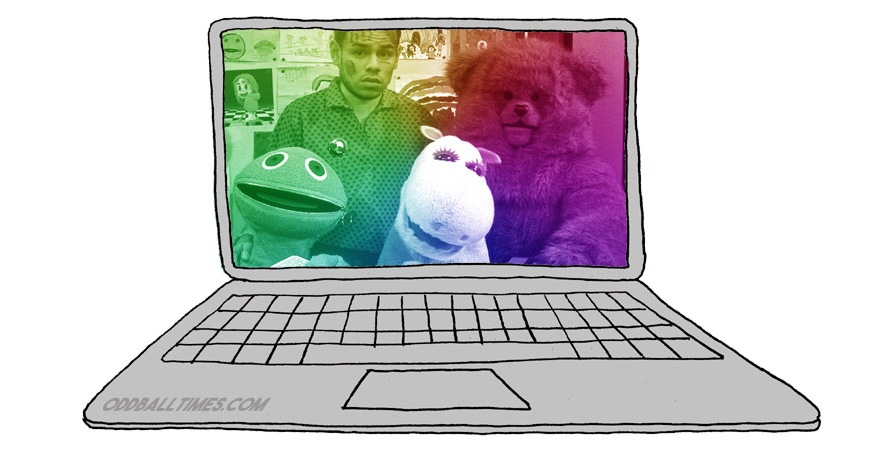 An image of 6ix9ine with Bungle, Zippy, and George from Rainbow