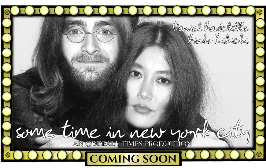 A movie poster for a John Lennon biopic starring Daniel Radcliffe by Oddball Times