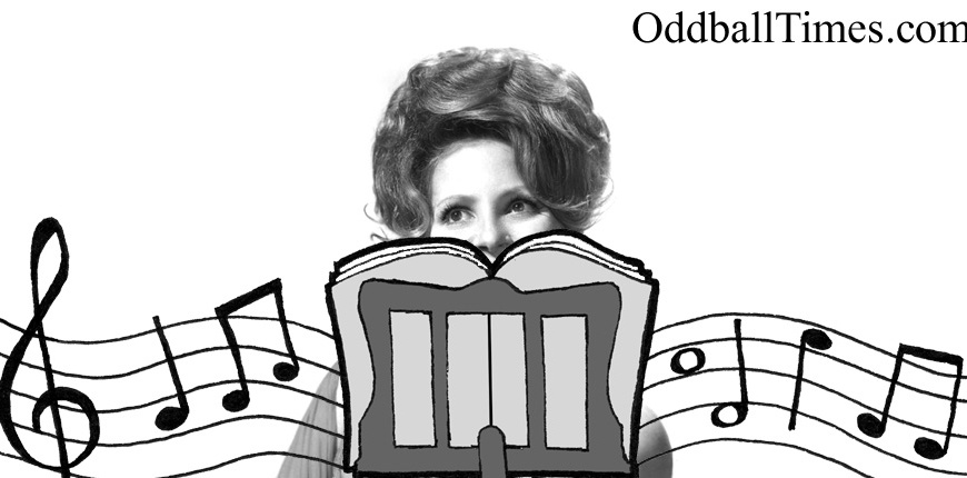 Brenda Lee hiding behind a music stand. By Oddball Times