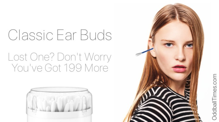 A woman wearing only one earbud in her ear because she's lost the other one