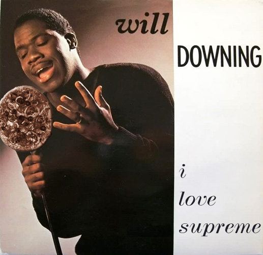 Will Downing singing to a supreme pizza