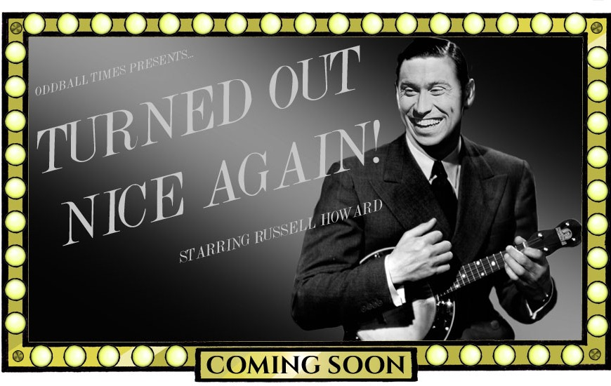 A poster for a George Formby musical biopic starring Russell Howard by Oddball Times