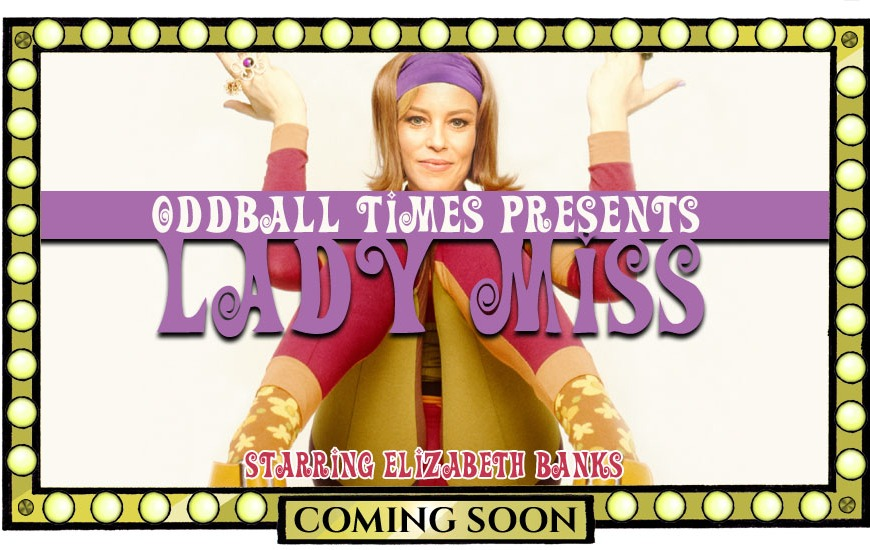 A poster for a Lady Miss Kier biopic starring Elizabeth Banks by Oddball Times