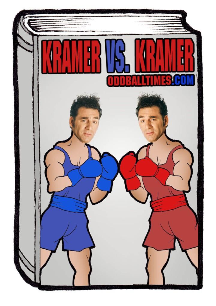 A book cover design for 1977 novel Kramer vs. Kramer by Avery Corman